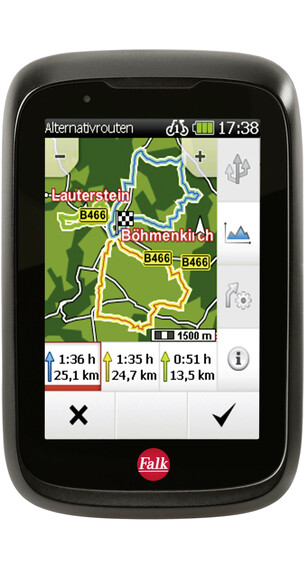 Falk Tiger Geo GPS Cykelcomputer sort